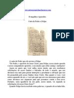 Evangelhos Apócrifos - Carta de Pedro a Felipe.doc