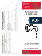 Safe Drinking Water Act Course – Water Operator Training – Winter 2014