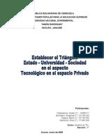 Triangulo Estado-universidad-sociedad en El Aspecto Tecnologico en El Aspecto Privado