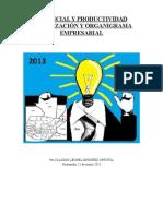 Potencial Productividad Organización Organigrama por Claudio Leonel Ordóñez Urrutia