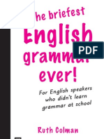 the Briefest English Grammar Ever
