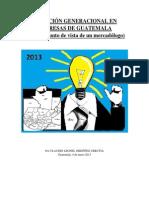 Situación Generacional en Empresas de Guatemala por Claudio Leonel Ordóñez Urrutia