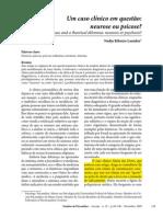 Um caso clínico em questão - Neurose ou Psicose.pdf