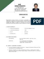 Curriculum 2013 Jose Jimenez