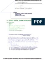 Human Resource Planning Nature and Need