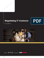 Negotiating IT Contracts