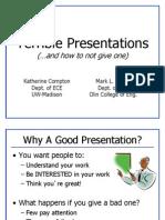 Unit 1 -- Presentation Skills -- Bad Examples