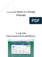 To Access Books in a Foreign Language