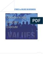 Ethics and Values in Business