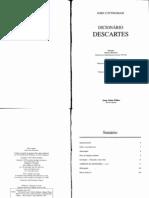 COTTINGHAM, John - Dicionário de Descartes