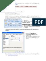 Excel Formatting 2007