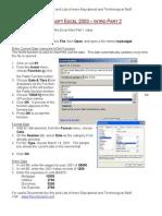 Excel Intro Part 2