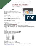 Excel Intro Part 2 2007