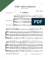 Trois Movements pour Flûte et Orgue - Jehan Alain - 1. Andante