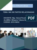 Normas Internacionales de  Auditoría 550