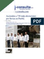 13-10-2013 E-consulta.com - Ascienden a 730 Mdp Afectaciones Por Lluvias en Puebla
