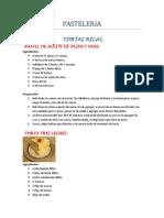 RECETARIO Comidas y Postres (Reposteria)