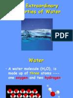 extraordinary properites of water