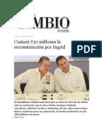 14-10-2013 Diario Matutino Cambio de Puebla - Costará 730 millones la reconstrucción por Ingrid