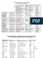 2013-2014 MHS Band & Orchestra Calendars
