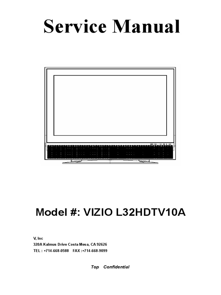 Vizio Television Parts Diagram The Best 2018 Lcd Wiring Free Download Schematic Tv Center