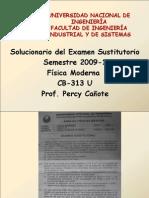 solucionario examen sustitutorio 2009-1