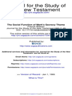 1985 - Francis Watson - The Social Function of Mark's Secrecy Theme