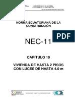 Nec2011-Cap.10-Vivienda de Hasta 2 Pisos Con Luces de Hasta 4.0 M-021412