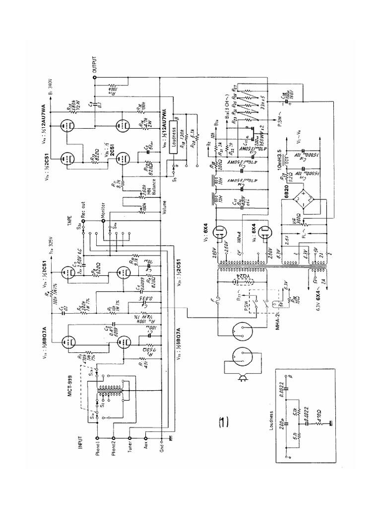 143 Tube Amplifier Schematics Otl 211 6080 300b Vt4c Ww