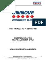 Material de Apoio Prática Jurídica Civil I - 2011 - 1