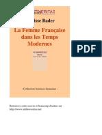 10531-CLARISSE BADER-La Femme Francaise Dans Les Temps Modernes-[InLibroVeritas.net]
