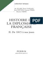 Histoire de la diplomatie de 1815 à nos jours