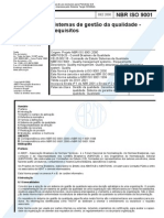 NBR ISO 9001 2000 - Sistema de Gestao Da Qualidade