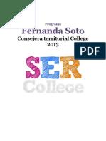 Programa Consejera Territorial Fernanda Soto, SER College UC