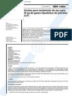 NBR 14804 - Valvula Para Recipientes de Aco Para 190 Kg de Gases Liquefeitos de Petroleo (GLP)[1]