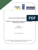 Conflictos y desafíos políticos e instituciones del segundo gobierno de Evo Morales