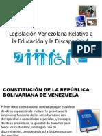 Legislacion Venezolana Discapacidad y Educacion
