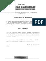 CONSTANCIA DE MATRICULA Nº 3 S