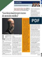 2013-02-07 La Vanguardia - Juan Gervas en La Contra
