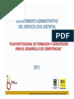Plan Institucional de Formaciion y Capacitacion (Pic) (1)