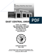East Central University Catalog 2009-2010