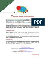 5° Festival de Teatro en Escuelas Secundarias Rosario