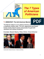 7 Types of American Politicians