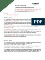 UNIDADE I - LISTA DE EXERCÍCIO - L1