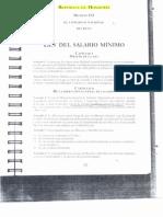 Ley Del Salario Minimo