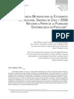 Méndez, M. (2006) Reflexión a partir de la pluralidad epistemólogica en psicología