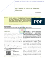 Surgical Management of Adolescent Varicocele Systematic Review of the World Literature