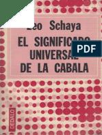 Leo Schaya - El Significado Universal de La Cabala