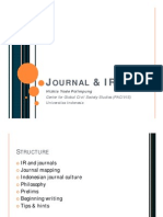 Journal & IR