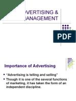 Advertising & Sales Management